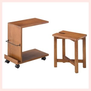 ミンディ製サイドテーブル&スツールのセット|sshana