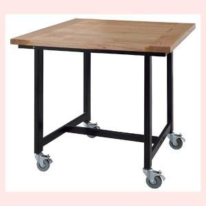 キャスター付ダイニングテーブル(80×80cm)|sshana