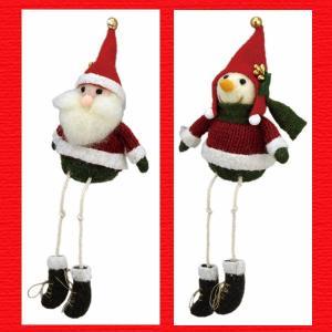 『クリスマス』ウールの足ぶらドール/2種類|sshana