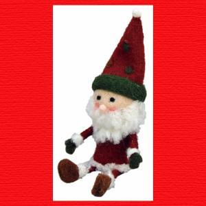 『クリスマス』ウールのマスコット(シッティング)/サンタ|sshana