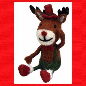 『クリスマス』ウールのマスコット(シッティング)/レインディア|sshana