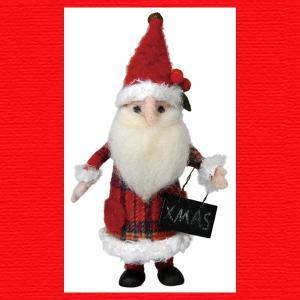 『クリスマス』ウールのマスコット(スタンディング)/サンタ・S|sshana