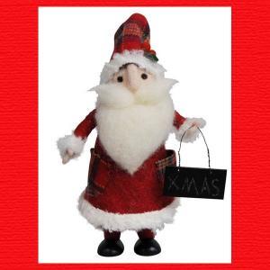 『クリスマス』ウールのマスコット(スタンディング)/サンタ・L|sshana