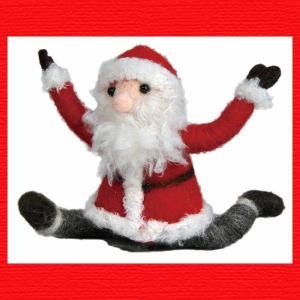 『クリスマス』ウールのマスコット(ヨガサンタ)/鳩のポーズ|sshana