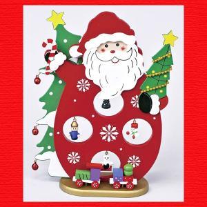 『クリスマス』木製オーナメントツリー(サンタ)|sshana