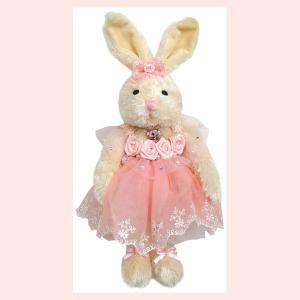 コスプレウサギのぬいぐるみ(レース/ドレス)/ピンク|sshana