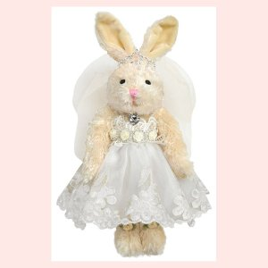 コスプレウサギのぬいぐるみ(ブライダル/ドレス)/ホワイト|sshana