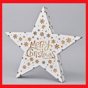 『クリスマス』木製LEDスター|sshana