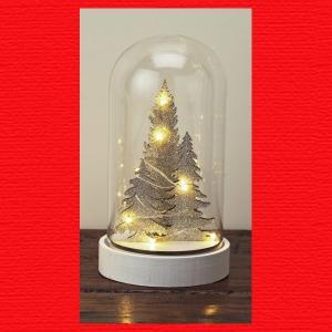 『クリスマス』LEDガラスドームツリー(L)|sshana