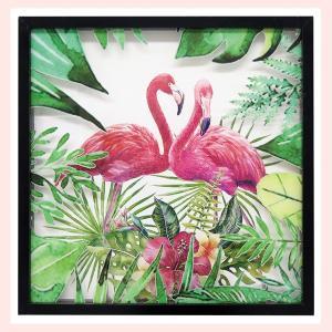 アートフレームアクリルパネル(フラミンゴ)/ジャングル|sshana
