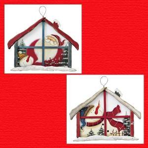 『クリスマス』木製ガラスハウス型ボード/2種類|sshana