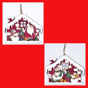 『クリスマス』ウッドハウスデコ/2種類|sshana