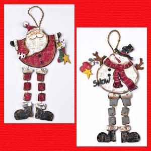 『クリスマス』ウッドデコ(足ぶら)/2種類|sshana