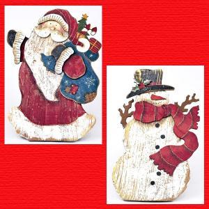 『クリスマス』ウッドボードデコ/2種類|sshana