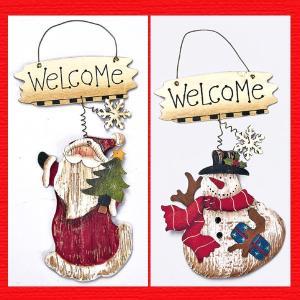 『クリスマス』ウッドデコ(ウェルカム)/2種類|sshana