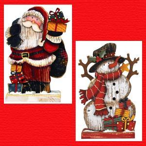 『クリスマス』木製ボード(小)/2種類|sshana