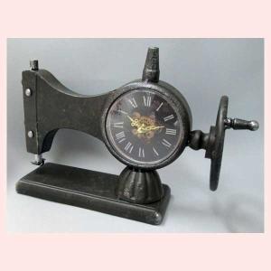 アンティーク調なミシンデザインの置時計/ブラック(金針)|sshana