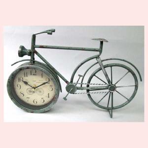 レトロ調な自転車デザインの置時計|sshana