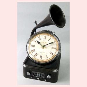 レトロ調な蓄音機デザインの置時計|sshana