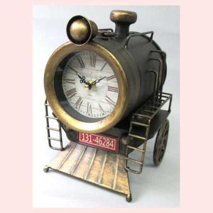 レトロ調な蒸気機関車デザインの置時計|sshana