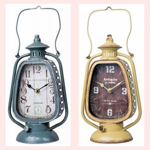 ヴィンテージ調なランタン型の置き時計/2種類|sshana