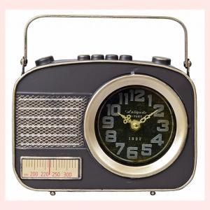 ヴィンテージ調なラジオ型の置き時計|sshana