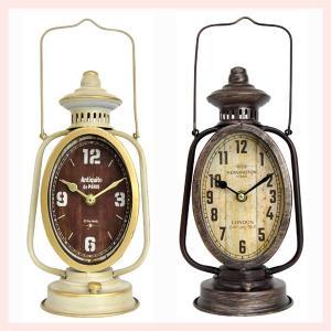 アンティーク調なランタン型オーバル置時計/2種類|sshana