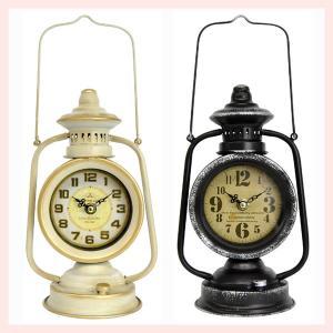アンティーク調なランタン型ラウンド置時計/2種類|sshana