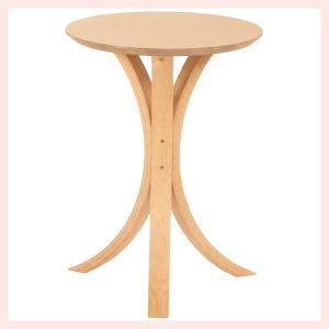 ウッドラウンドサイドテーブル/ナチュラル sshana