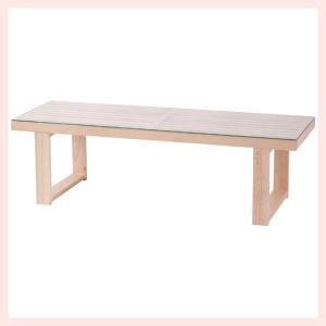 パインガラスロングローテーブル/ナチュラル sshana