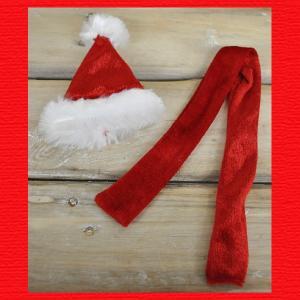 『クリスマス』ミニコスチューム(Xmas帽子&マフラー)3セット|sshana
