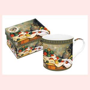 ギフトボックス入りの名画ロイヤルマグカップ(セザンヌ/果物鉢)|sshana