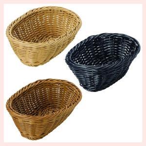 『PP』耐熱・食洗機対応の楕円タイプ小物バスケット「18×12.5×6cm」2Pセット/3種類 sshana