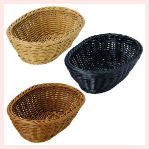 『PP』耐熱・食洗機対応の楕円タイプ小物バスケット「24.5×17.5×7.5cm」/3種類 sshana