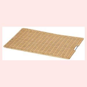 『ラタン』四角タイプディスプレイスノコ「60×40×1.5cm」/ブラウン|sshana