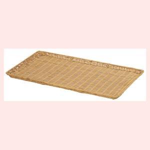 『ラタン』鉄芯入りの四角タイプトレー「60×35×2.5cm」/ブラウン|sshana