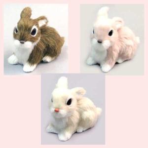 かわいいウサギの置物(座り)/3種類|sshana
