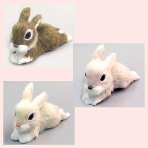 かわいいウサギの置物(伸び)/3種類|sshana