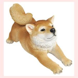レジン製のリアルなアニマルオブジェ(柴犬)/ストレッチ|sshana