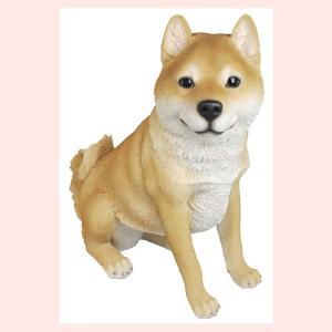 レジン製のリアルなアニマルオブジェ(柴犬)/L sshana
