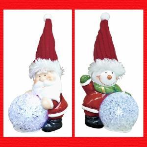 『クリスマス』陶器製LEDボールライト/2種類|sshana