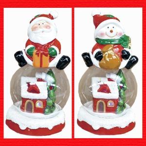 『クリスマス』陶器製ドームハウスライト/2種類|sshana