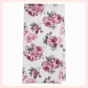 綿100%の薔薇柄ボディタオル(3Pセット)/ルーシーカラー|sshana