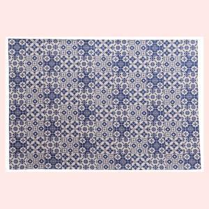 デザインラグ(190×130cm)RG-73BL/ブルー|sshana
