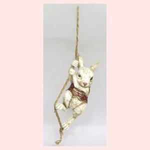 アンティーク調なレジン製トランプラビットのオブジェ(ロープ)|sshana