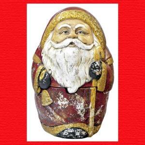 『クリスマス』レジン製アンティーク調サンタのボックス|sshana