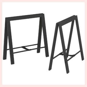 スチールテーブル脚(2脚セット)/ブラック|sshana