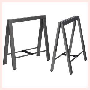 スチールテーブル脚(2脚セット)/シルバー|sshana