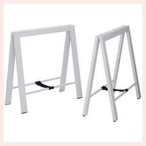 スチールテーブル脚(2脚セット)/ホワイト|sshana