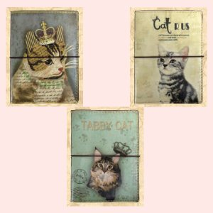 アンティーク調な絵柄のパスケース(猫)/3種類|sshana